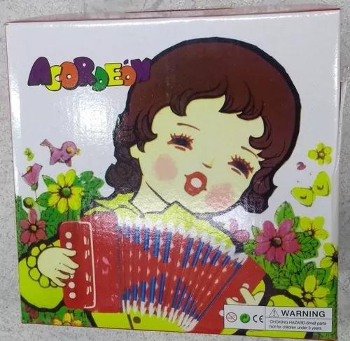 Safona acordeon infantil brinquedo musical 10 teclas