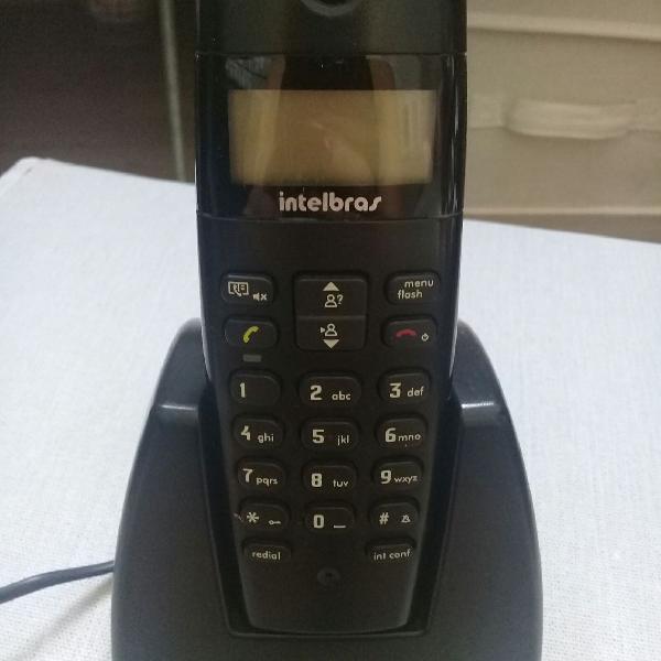 Telefone sem fio intelbras com detector de chamadas