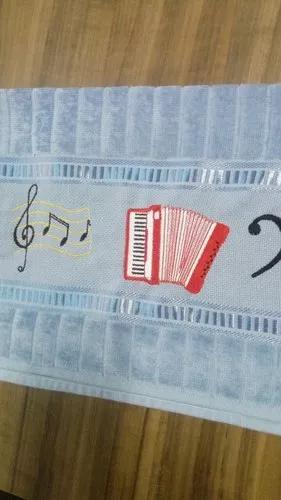 Toalhas instrumento musical acordeon