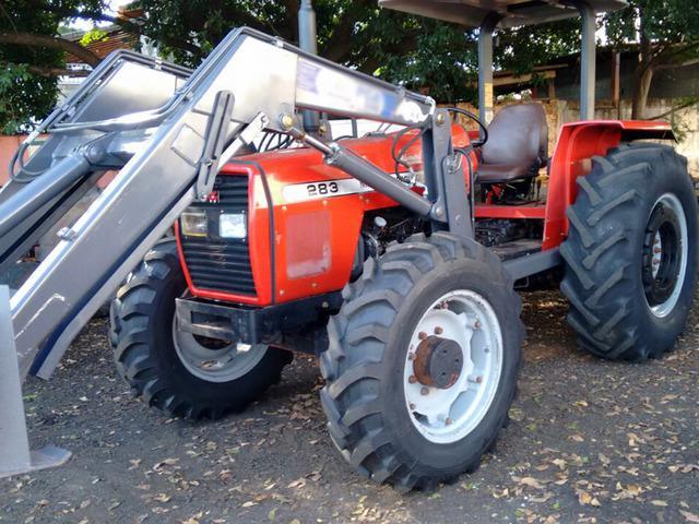 Trator massey 283 2005 4x4 turbo + lamina e concha, financio