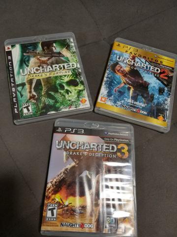Trilogia uncharted para playstation 3 semi novos ps3