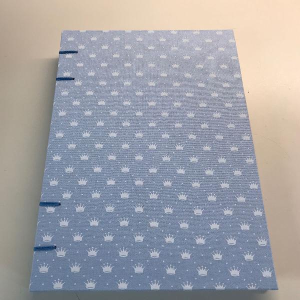 Caderno azul claro