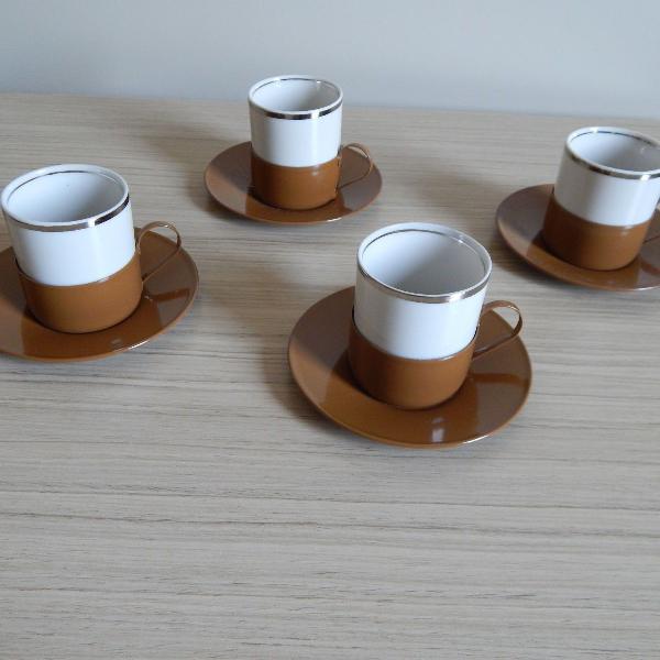 Conjunto xícaras de cafezinho - porcelana veracruz