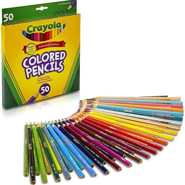 Crayola lapis de cor - 50 cores pronta entrega original eua