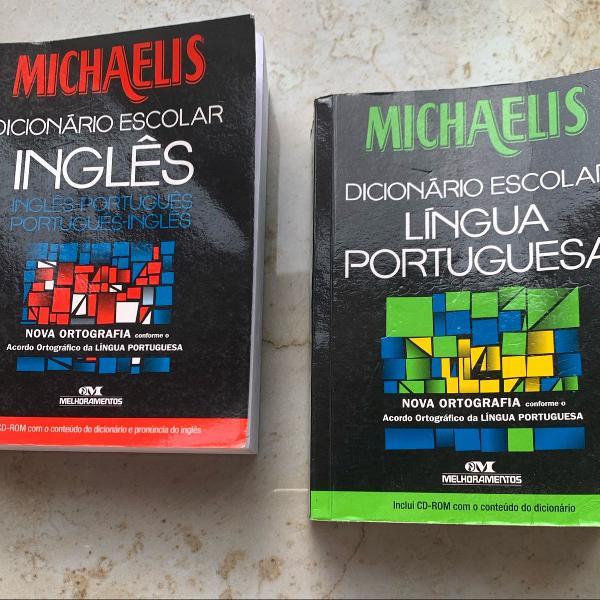 Dupla de dicionários escolares michaelis