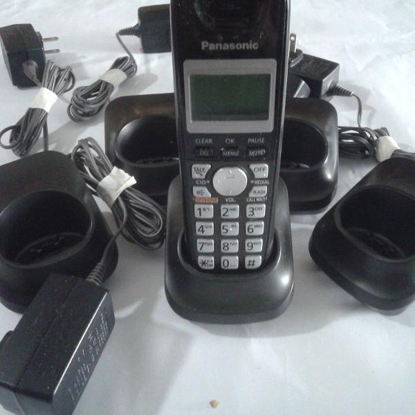 Extensão telefone e 5 bases para ramal panasonic pnlc 1010