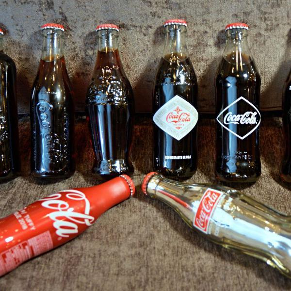 Garrafas coca-cola retro