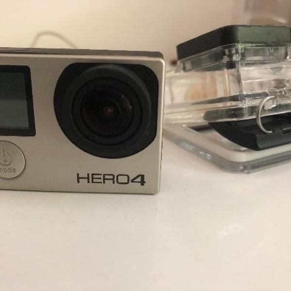 Gopro hero 4 silver + carregador + bateria extra + case +