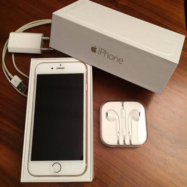 Iphone 6 - 64gb - gold - acompanha fones e carregador