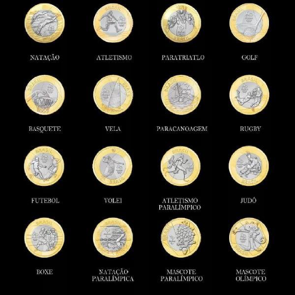 Kit 6 moedas 1 real para colecionadores