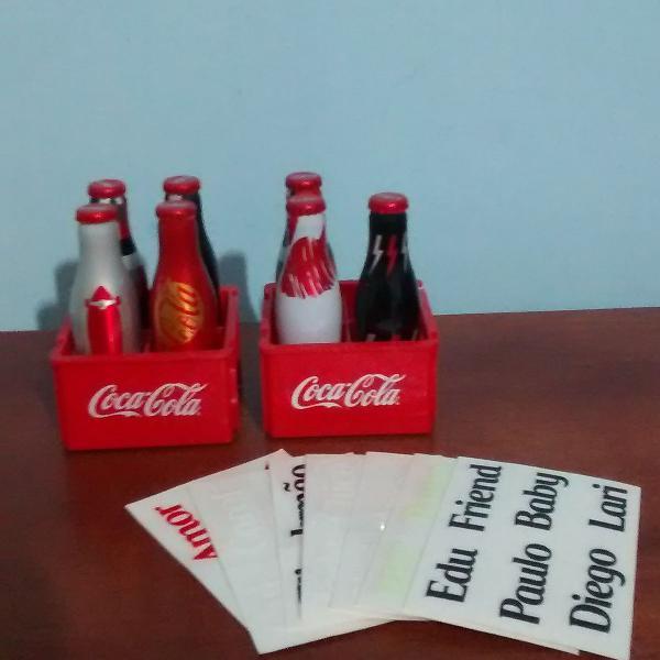 Kit garrafinhas coca cola