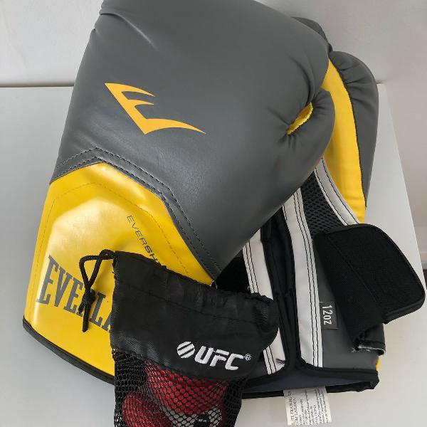 Luva de boxe/muay-thai everlast + bandagem ufc
