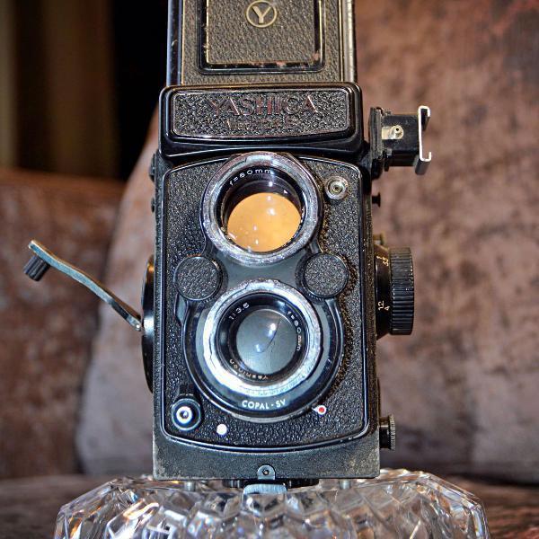 Maquina fotografica antiga retro