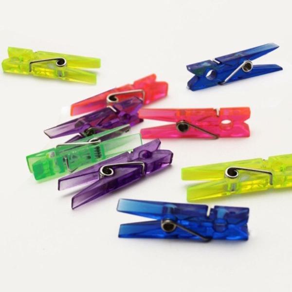 Mini prendedor de papel colorido