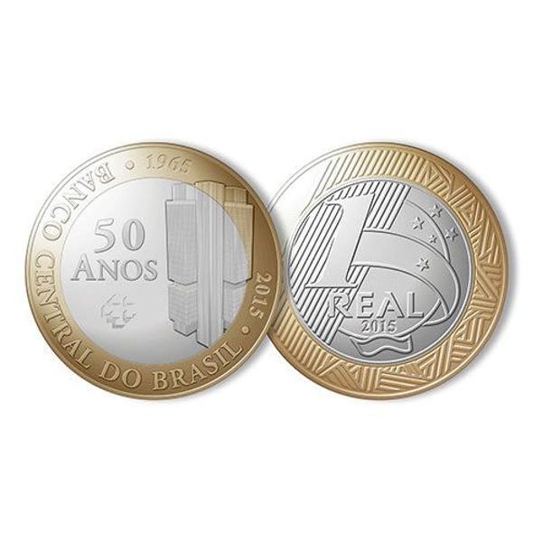 Moeda comemorativa - 50 anos do banco central do brasil