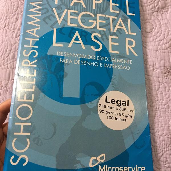 Pacote de papel vegetal laser. pacote com 70 folhas. veja