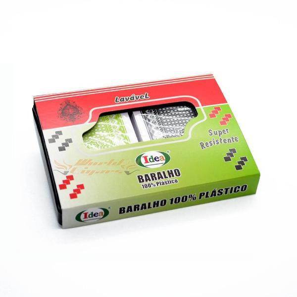 Par baralho 100% plástico - super resistente lavável