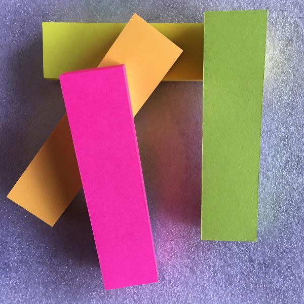 Sticky note colorido