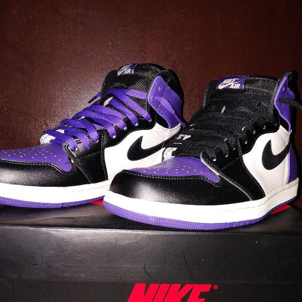 Tênis nike air jordan 1 court purple