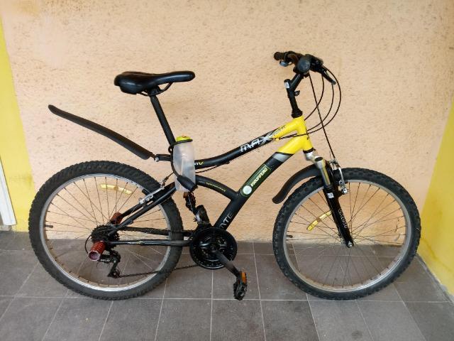 Bicicleta aro 24 caloi max front com suspensão dianteira