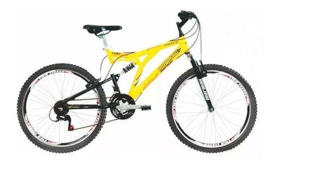 Bicicleta mormaii padang full suspension aro 26 - alumínio