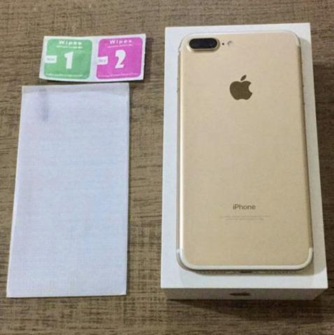 Iphone 7 plus dourado 256gbb na caixa!!!