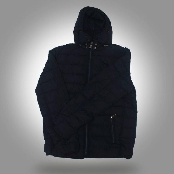Moda masculina casaco jaqueta casual em algodão com capuz