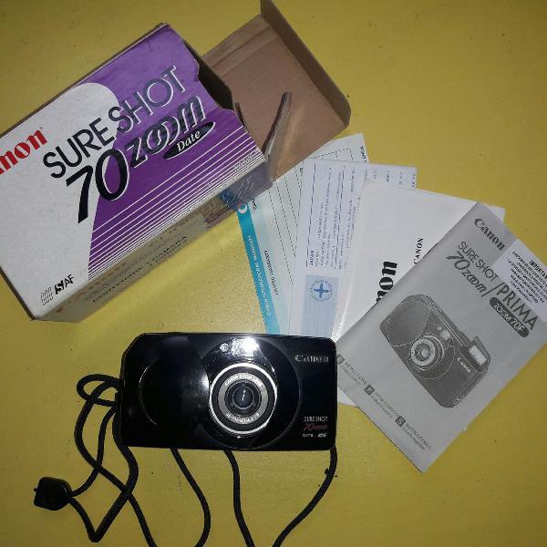 Máquina fotográfica canon década de 90, visor digital,