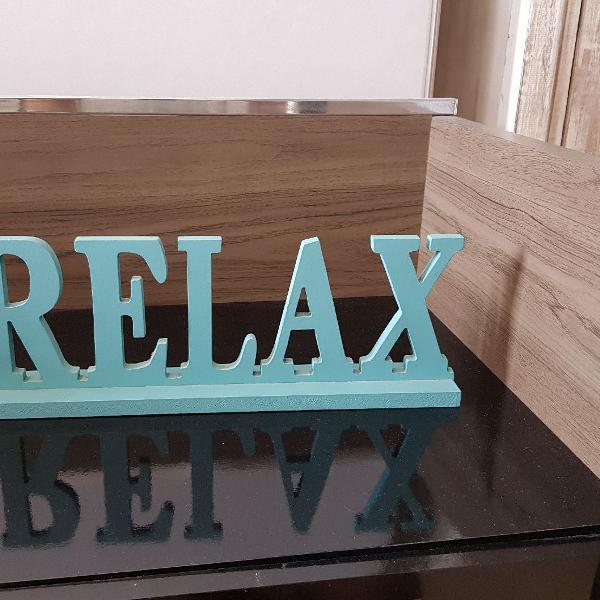 Plaquinha azul relax