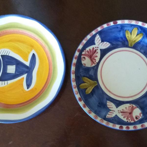 Pratos de cerâmica luis salvador