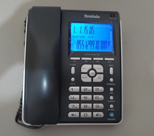 Telefeone de mesa com viva voz, identificador de chamadas e