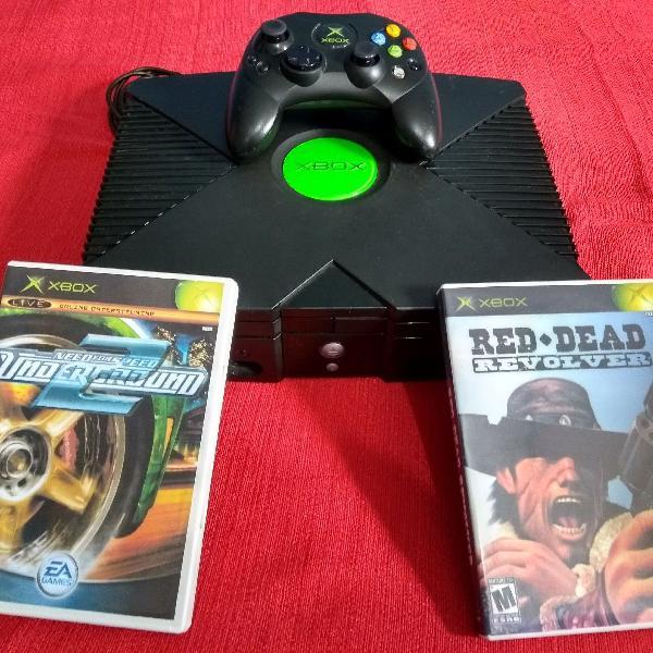 Xbox clássico desbloqueado evox. game 100% semi-novo.