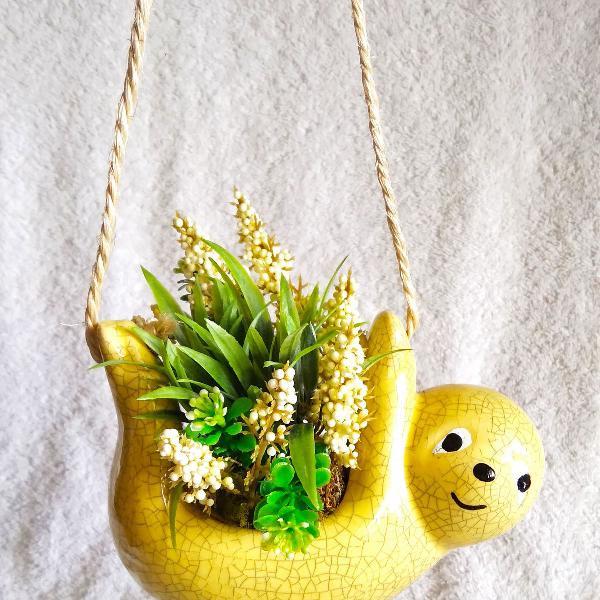Bicho preguiça cachepo suspenso vaso decorativo pendurável