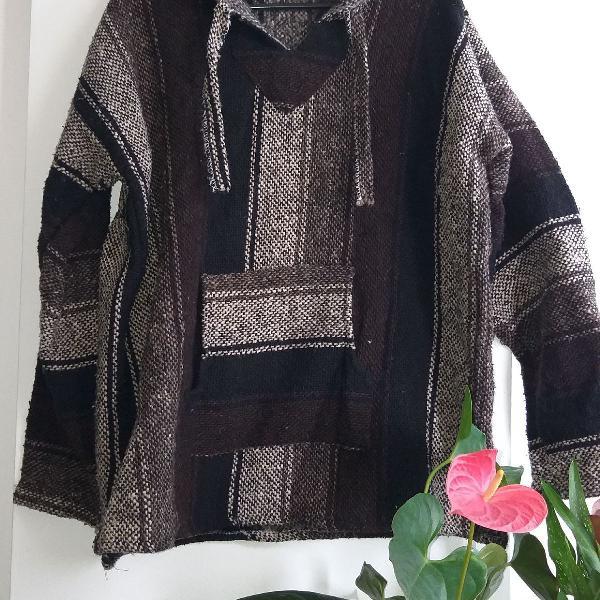 Blusa de frio marrom mexicana tamanho p