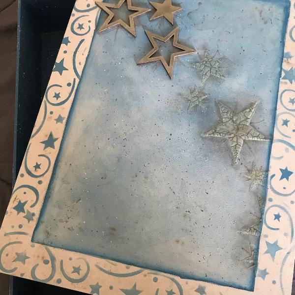 Caixa organizadora céu estrelado + brinde