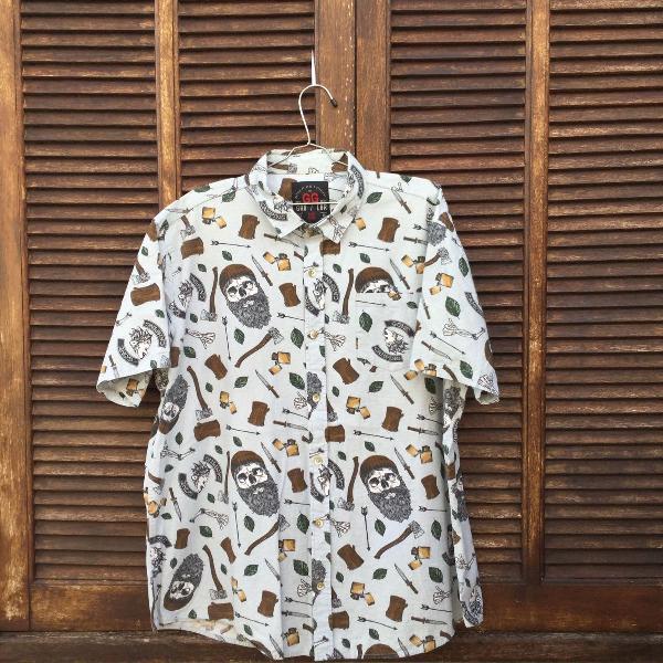 Camisa manga curta estampada blue steel