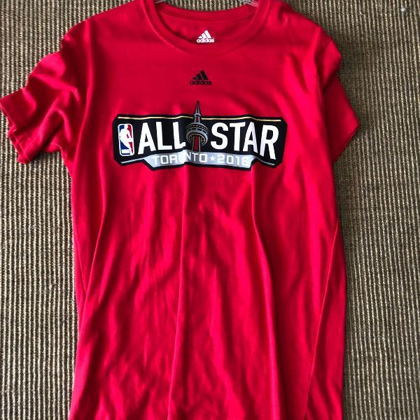 Camiseta vermelha all star adidas, nba