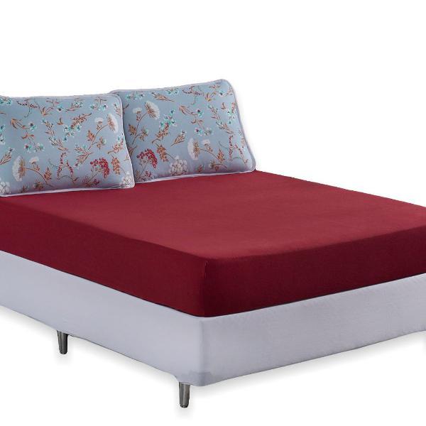 Lençol casal cama queen algodão 3 peças varias estampas