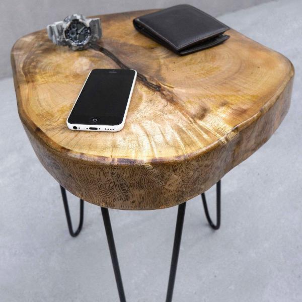 Mesa de centro (tronco de árvore mangueira) - com pés