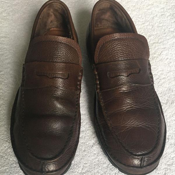 Mocassim side walk original masculino couro marrom escuro 43