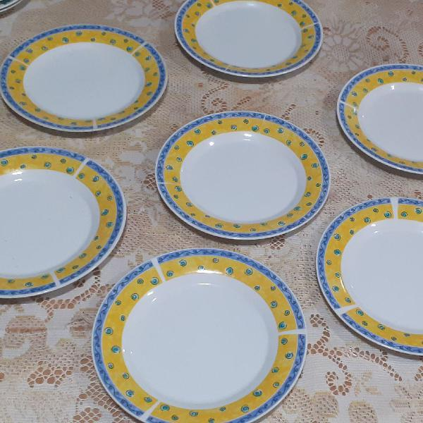 Pratos para bolo tortas sobremesa porcelana