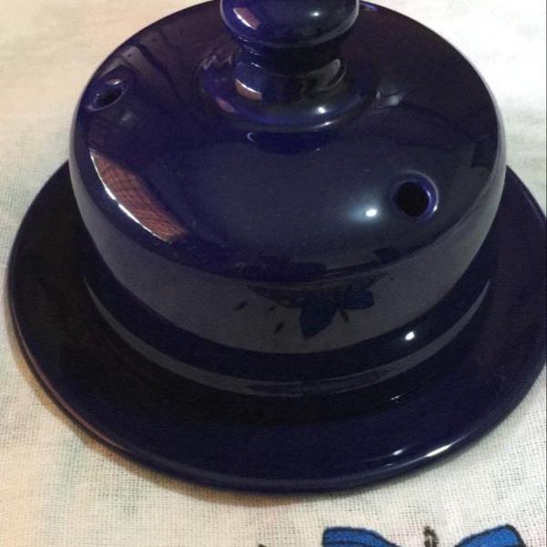Queijeira azul porcelana