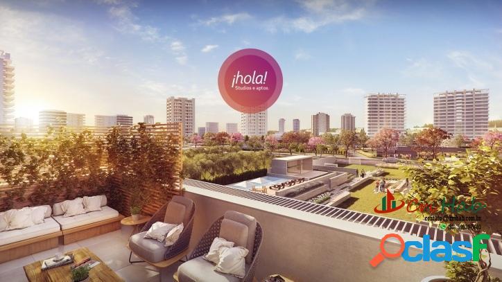 Hola! - apartamento 1 e 2 dormitórios - parque una shopping pelotas
