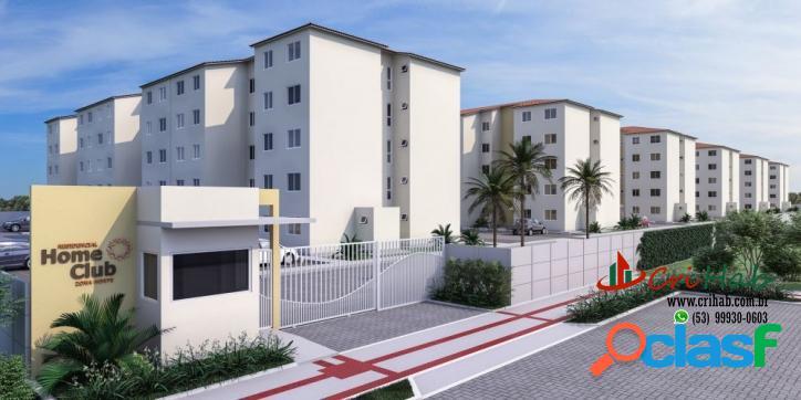 Home club - apartamento mcmv 2 dormitórios - três vendas pelotas