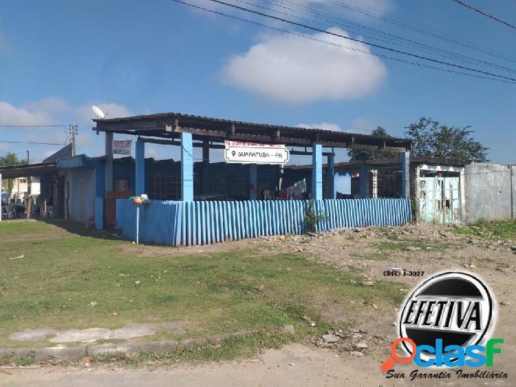 Terreno com barracão - bairro vila esperança - guaratuba pr