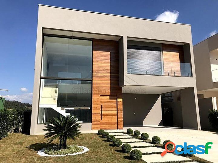 Casa nova em tamboré, 4 suítes e linda vista