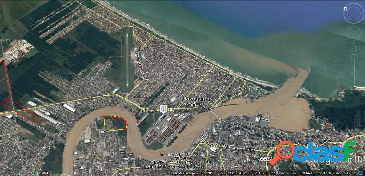Terreno em área portuária - venda - itajai - sc - barra do rio (imarui)