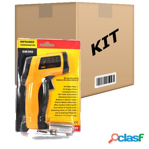 Kit 10 termômetros digital infravermelho laser -50º a 420º c