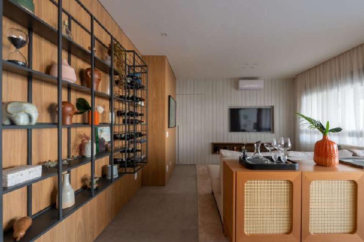 Apartamento de 118m² com duas vagas. Lazer completo com