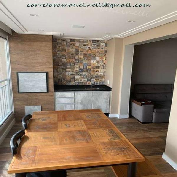 Apartamento no mooca 80m² 3 dorm. 2 vagas terraço gourmet